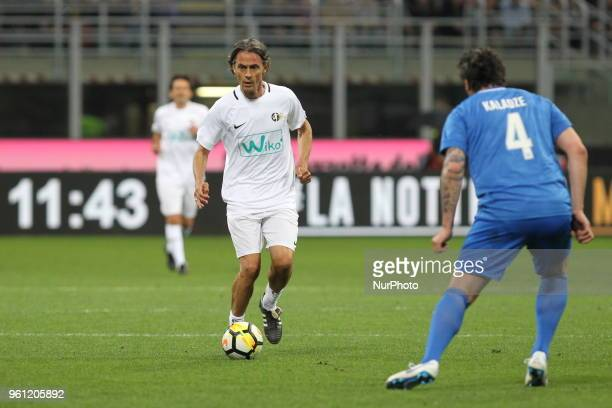 Filippo Inzaghi during quotLa partita del Maestroquot the farewell match by Andrea Pirlo at Giuseppe Meazza stadium on May 21 2018 in Milan Italy