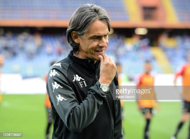 Filippo Inzaghi head coach of Benevento Calcio during the Serie A match between UC Sampdoria and Benevento Calcio at Stadio Luigi Ferraris on...