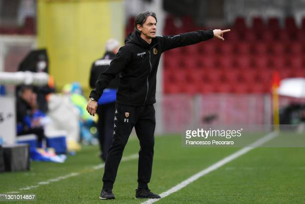 Filippo Inzaghi, Head Coach of Benevento Calcio during the Serie A match between Benevento Calcio and UC Sampdoria at Stadio Ciro Vigorito on...