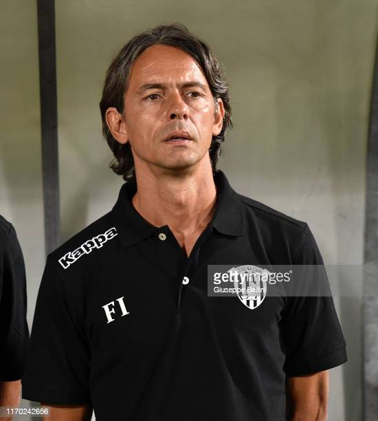 Filippo Inzaghi head coach of Benevento Calcio during the Serie B match between Pisa SC and Benevento Calcio at Arena Garibaldi on August 23, 2019 in...