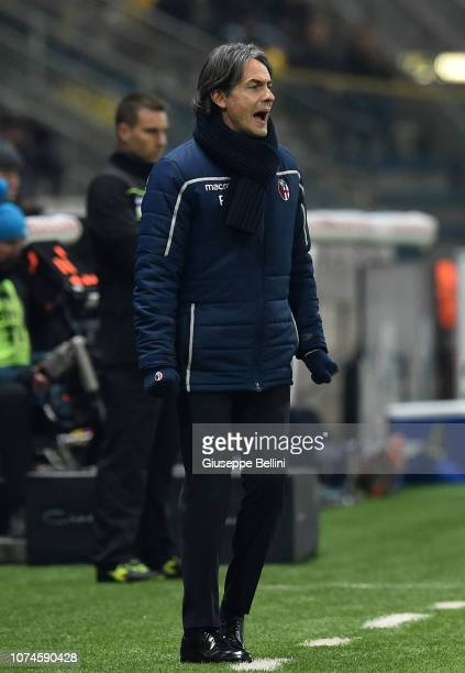 Filippo Inzaghi head coach of Bologna FC during the Serie A match between Parma Calcio and Bologna FC at Stadio Ennio Tardini on December 22 2018 in...
