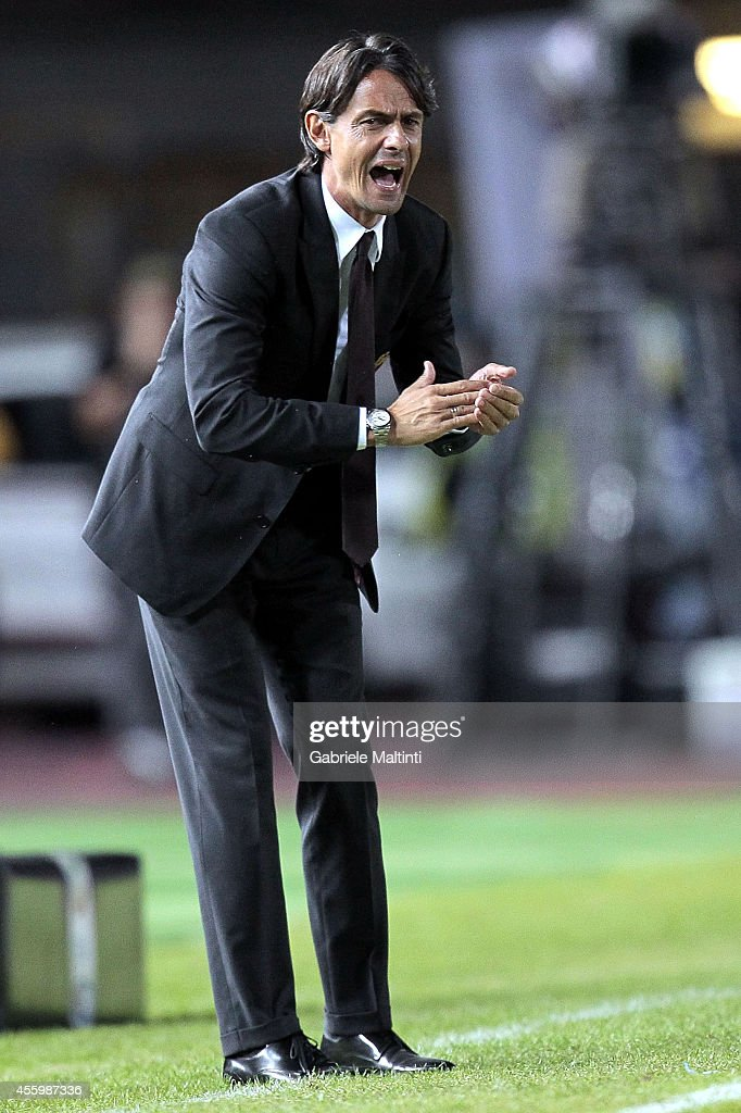 Filippo Inzaghi head coach of Empoli FC gestures during the Serie A match between Empoli FC and AC Milan at Stadio Carlo Castellani on September 23, 2014 in Empoli, Italy.