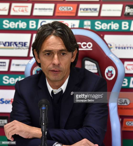 Filippo Inzaghi head coach of Venezia FC during presse conference after he Serie B match between AS Cittadella and Venezia FC at Stadio Piercesare...