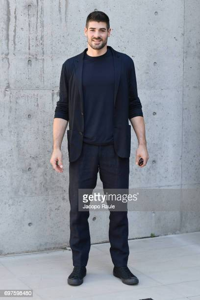 Filippo Lanza attends the Giorgio Armani show during Milan Men's Fashion Week Spring/Summer 2018 on June 19 2017 in Milan Italy