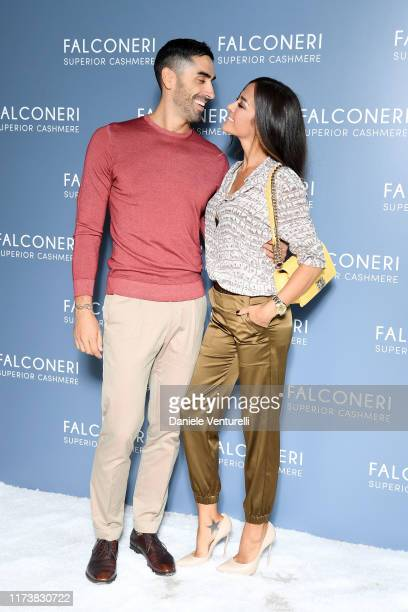 Filippo Magnini and Giorgia Palmas attend the Falconeri fashion show on September 11 2019 in Verona Italy