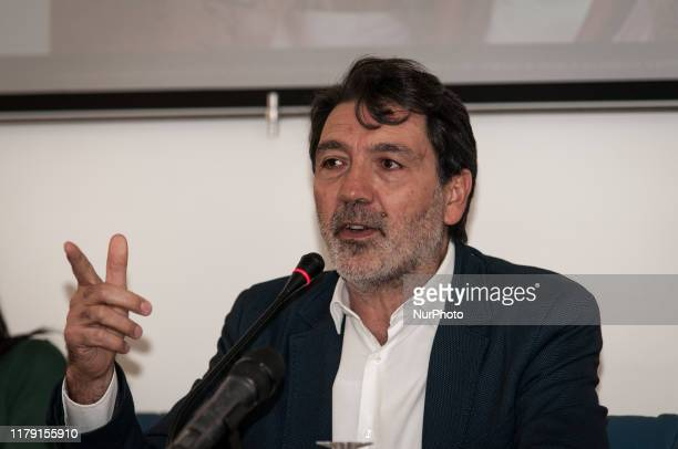 Filippo Miraglia attends on October 30 2019 in Rome Italy the press conference against the renewal of the Memorandum with Libya on November 2 If the...