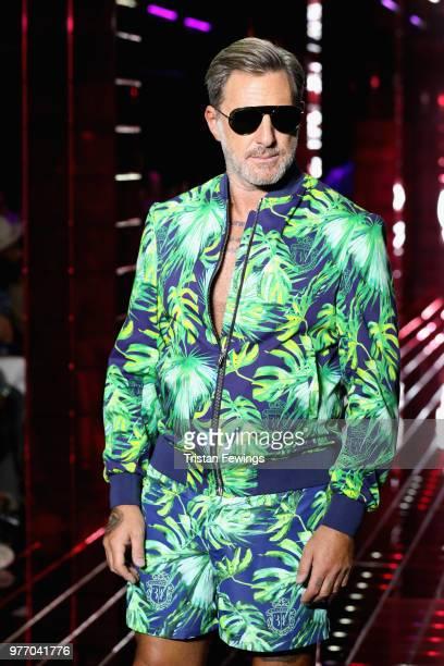 Filippo Nardi walks the runway at the Billionaire show during Milan Men's Fashion Week Spring/Summer 2019 on June 17 2018 in Milan Italy