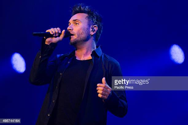 """Filippo Neviani, an Italian Singer also known as """"Nek"""" performs full of energy in his live concert, """"Prima di Partire Live Tour"""" at Turin."""