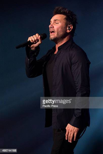 "Filippo Neviani, an Italian Singer also known as ""Nek"" performs full of energy in his live concert, ""Prima di Partire Live Tour"" at Turin."