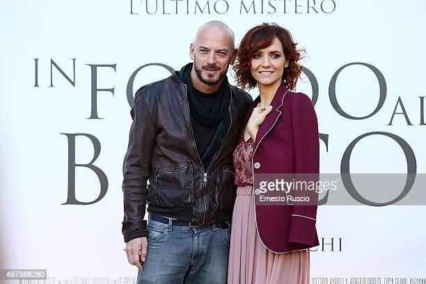 Filippo Nigro and Camilla Filippi attend a photocall for 'In Fondo Al Bosco' at The Space Moderno on November 16 2015 in Rome Italy