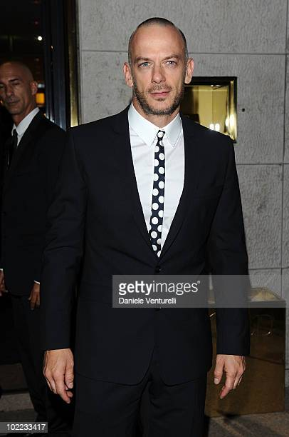 Filippo Nigro arrives at the Dolce Gabbana 20 Years of Menswear dinner on June 19 2010 in Milan Italy