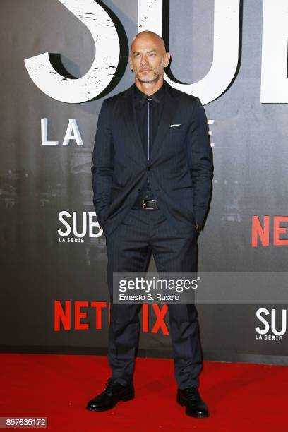 Filippo Nigro attends Netflix's Suburra The Series Premiere at The Space Moderno on October 4 2017 in Rome Italy