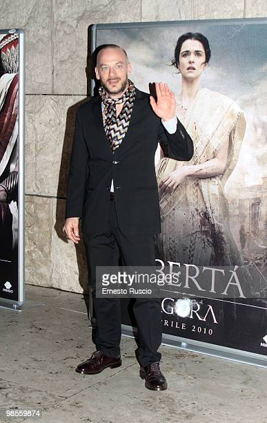 Filippo Nigro attends the 'Agora' premiere at Ara Pacis on April 19 2010 in Rome Italy