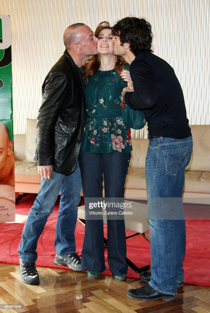 Filippo Nigro Claudia Gerini And Luca Argentero Attend The Diverso News Photo Getty Images