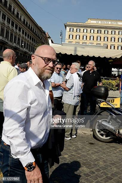 Filippo Nogarin major of Genova during the national demonstration of street vendors against the Bolkestein Directive on September 28 2016 in Rome...