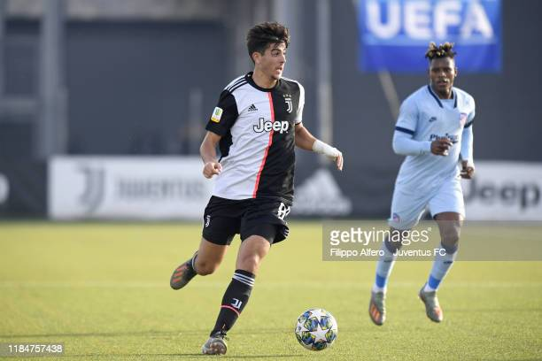 Filippo Ranocchia of Juventus controls the ball during the UEFA Youth League match between Juventus U19 and Atletico Madrid U19 on November 26 2019...