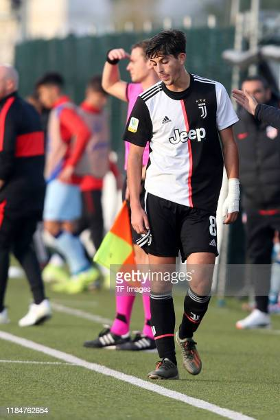 Filippo Ranocchia of Juventus Turin U19 looks dejected during the UEFA Youth League match between Juventus U19 and Atletico Madrid U19 on November 26...