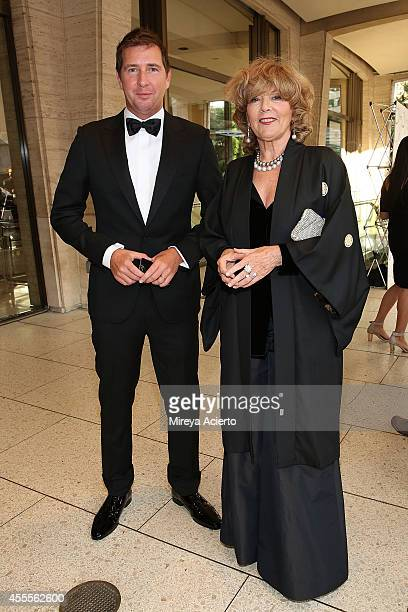 Filippo Sugar and Caterina Caselli attend the New York Philharmonic's 173rd Opening Gala at Avery Fisher Hall at Lincoln Center for the Performing...