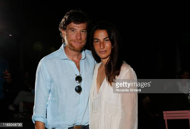 Filippo Terzani and Annalisa Bugliani attend the welcome dinner celebrating the opening of Rachel Lee Hovnanian's museum show Open Secrets at Alle...