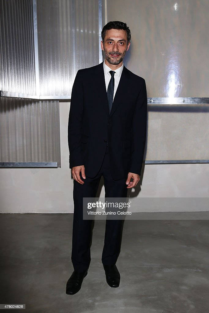 Filippo Timi attends the Prada show during the Milan Men's Fashion Week Spring/Summer 2016 on June 21, 2015 in Milan, Italy.