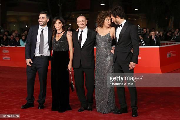 Filippo Timi Chiara Caselli director Marco Simon Puccioni Valeria Golino and Francesco Scianna attend 'Come Il Vento' Premiere during The 8th Rome...