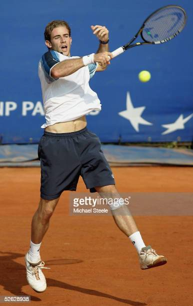 Filippo Volandri of Italy during his third round victory against Mariano Puerta of Argentina during the ATP Master Series at the Monte Carlo Country...