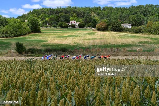 Filippo Zana of Italy and Team Bardiani CSF Faizane / Maxime Cam of France and Team B&B Hotels - Vital Concept / Christophe Laporte of France and...