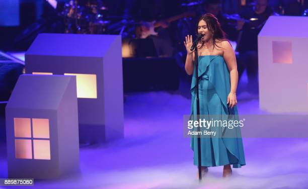 Filiz Arslan performs during the 'The Voice of Germany' semifinals at Studio Berlin Adlershof on December 10 2017 in Berlin Germany The finals will...