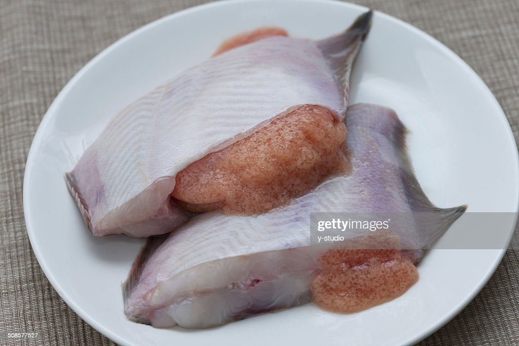Fillet of flounder : Stock Photo