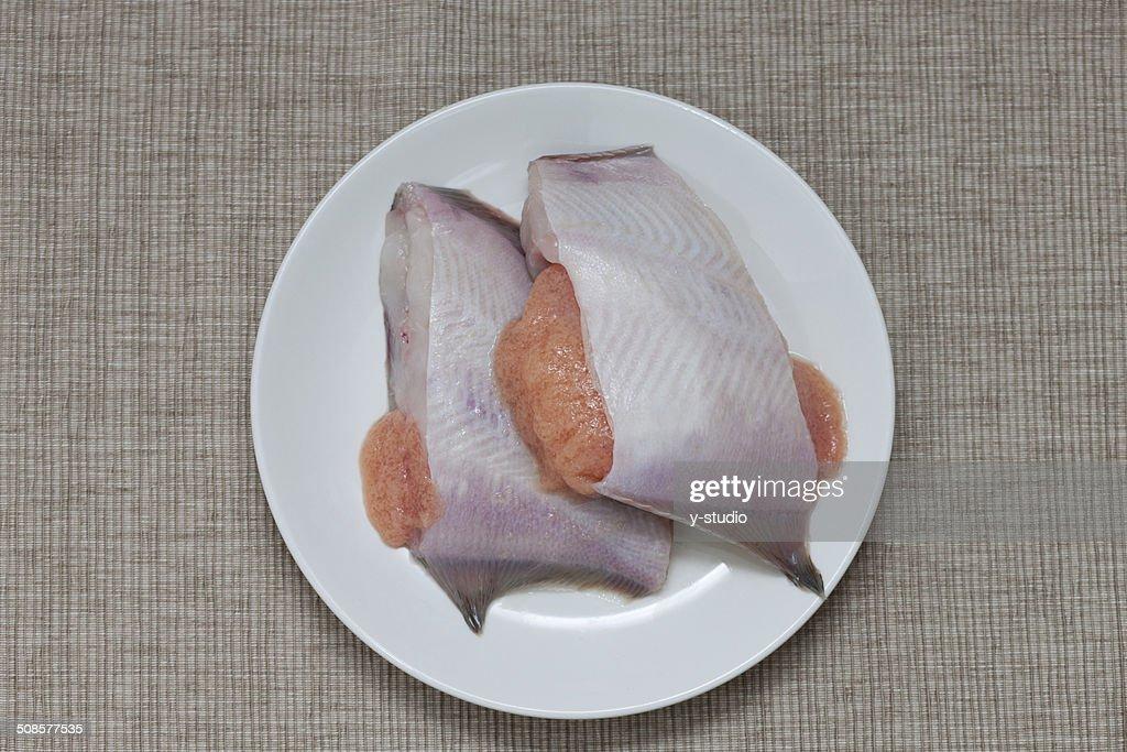 Fillet of flounder : Bildbanksbilder