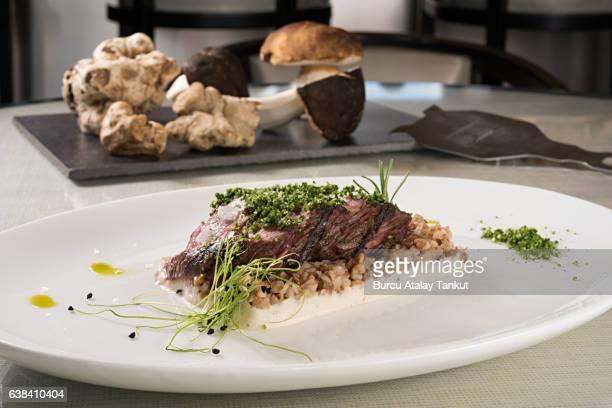 Fillet steak with porcini mushrooms