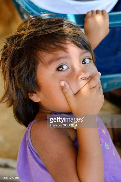 Fillette Wayuu dans un village près de Punta Gallinas dans la région de la Guajira 20 mars 2015 Colombie
