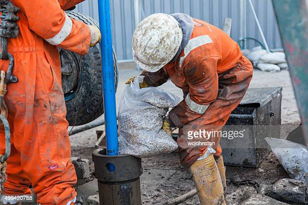 Filling a Borehole with aggregate