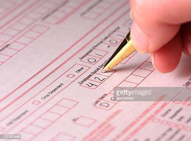 充填社会保障番号-保険/ヘルスケア - 加入 ストックフォトと画像