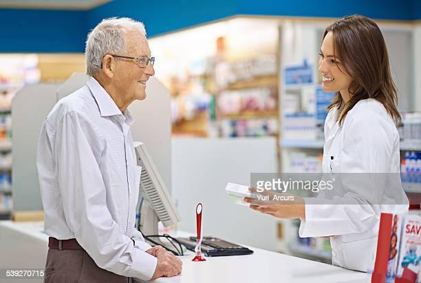 Filling prescriptions are just part of her job
