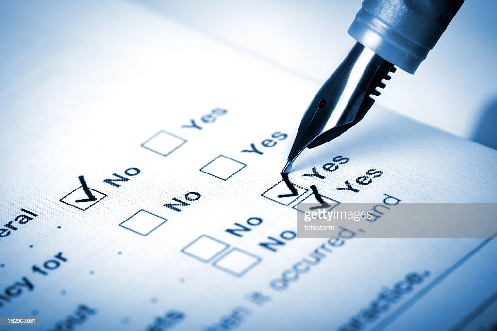 Filling Questionnaire : Stock Photo