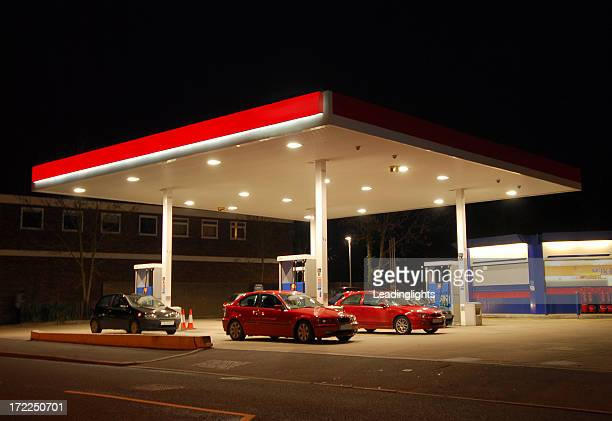 Filling Station at Night, Kent