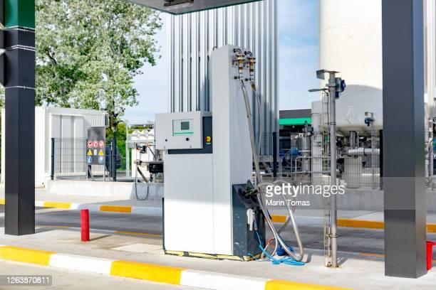lng filling station nozzle - 液化天然ガス ストックフォトと画像