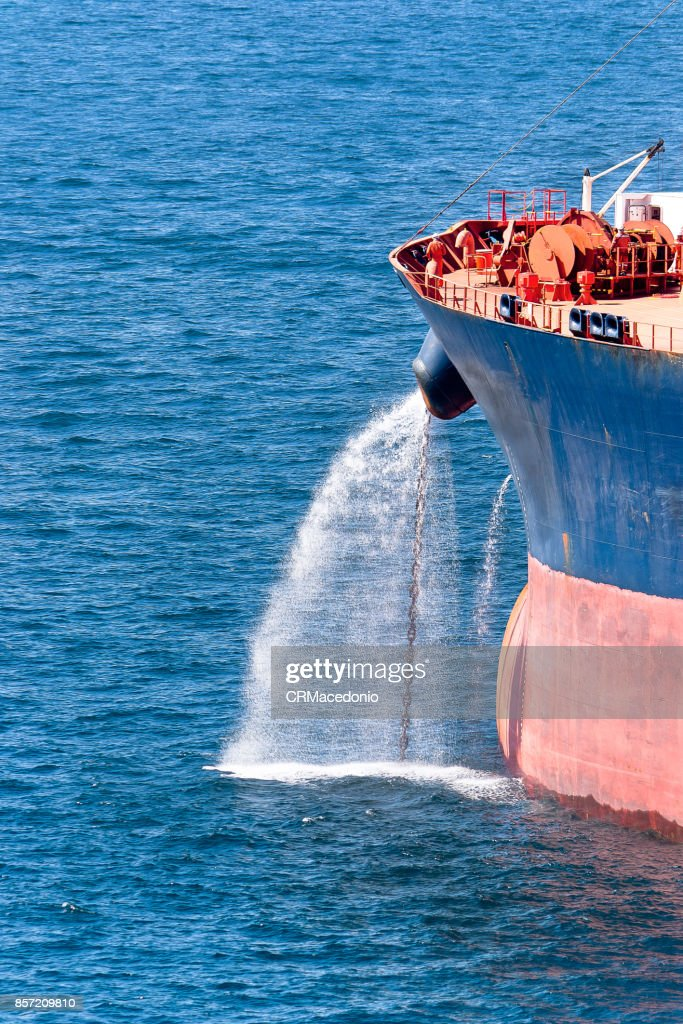 Filling the sea with water. : Stock Photo