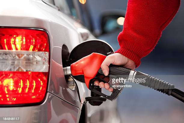 Filling up the car with gas