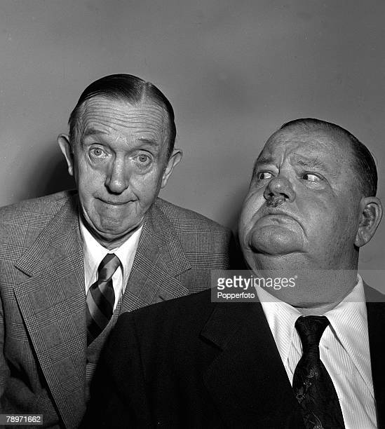 Film 1952 Washington Hotel London A picture of legendary American comedy partnership Stan Laurel and Oliver Hardy