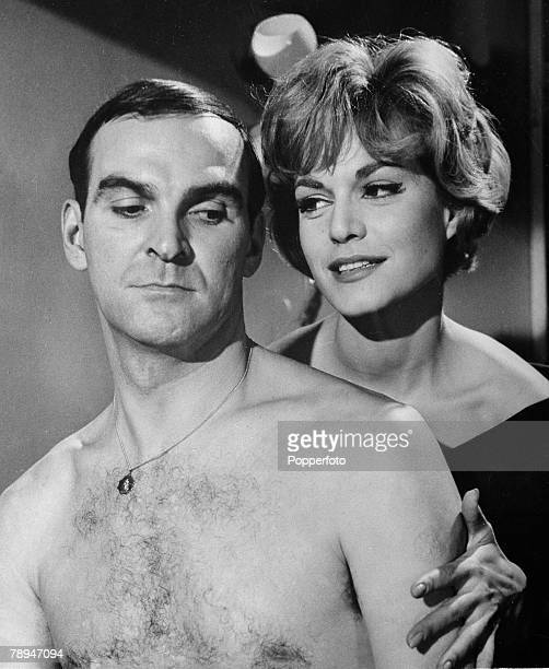 Film 23rd February 1960 British movie actor Stanley baker seen here with German actress Margit Saad from the film The Concrete Jungle