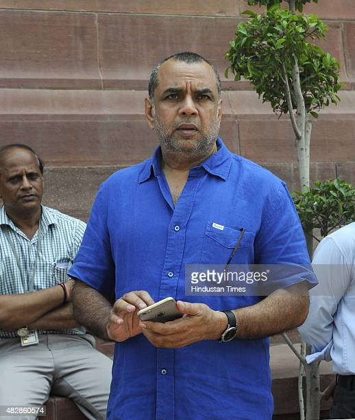 Film actor and BJP leader Paresh Rawal during the Monsoon Session at the Parliament House on August 3 2015 in New Delhi India 25 of Congress party's...