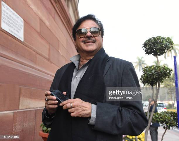 Film Actor and member of parliament Lok Sabha Shatughan Sinha during the Parliament Winter Session on January 4 2018 in New Delhi India The...