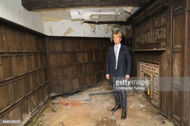 US film actor Hopwood DePree XIV stands inside the birthing room where his greatgrand father was born at Hopwood Hall his family's ancestral home...