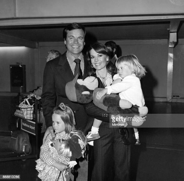 Film actor Robert Wagner and his wife Natalie Wood arrived at Heathrow Airport from Los Angeles with their children Courtney and Natasha Courtney was...