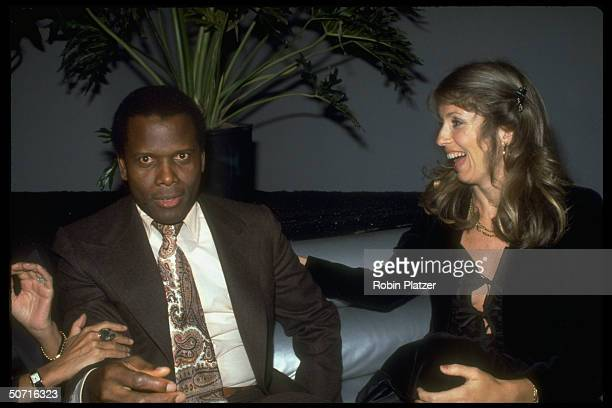 Film actor Sidney Poitier and wife Joanna Shimkus.