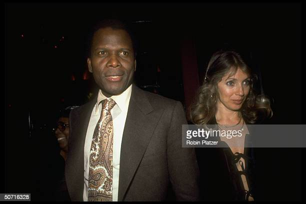 Film actor Sidney Poitier and wife Joanna Shimkus