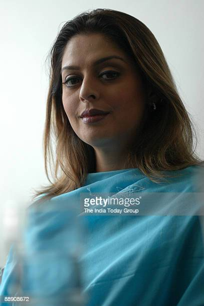 Film actors Nagma who is during at the Promotion of Bhojpuri film Tu Hamar Hau at Castle 9 Connaught Place New Delhi