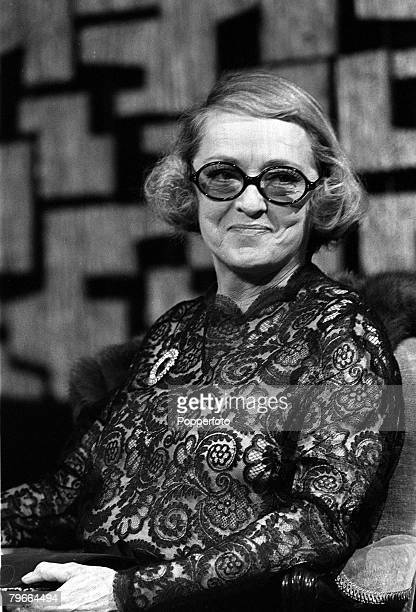 Film actress Bette Davis pictured at Londons National Film Theatre 12 September 1971